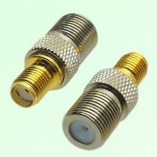 RF Adapter F Female Jack to SMA Female Jack