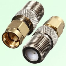 RF Adapter F Female Jack to SMA Male Plug