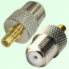 RF Adapter F Female Jack to SMB Male Plug