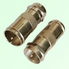 RF Adapter F Male Plug to F Male Quick Push-on