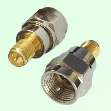 RF Adapter F Male Plug to RP SMA Female Jack