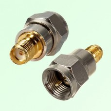 RF Adapter F Male Plug to SMA Female Jack