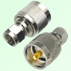 RF Adapter F Male Plug to UHF PL259 Male Plug
