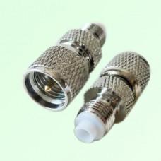 RF Adapter FME Female Jack to Mini UHF Male Plug