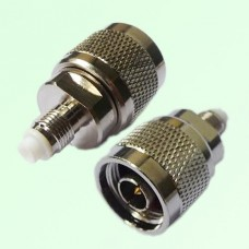 RF Adapter FME Female Jack to N Male Plug