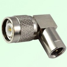 Right Angle FME Male Plug to TNC Male Plug Adapter