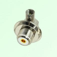 Right Angle FME Male Plug to UHF Bulkhead Female Adapter