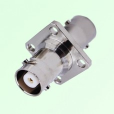 4 Hole Panel Mount MHV 3KV BNC Female to MHV 3KV BNC Female Adapter