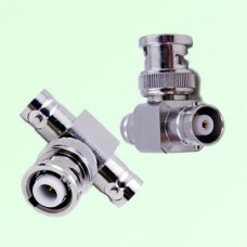 T Type MHV 3KV BNC Male Plug to Two MHV 3KV BNC Female Jack Adapter