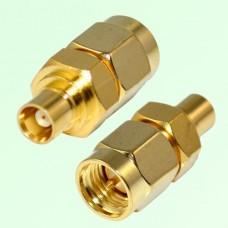 RF Adapter MCX Female Jack to SMA Male Plug