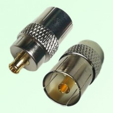 RF Adapter MCX Male Plug to DVB-T TV PAL Female Jack