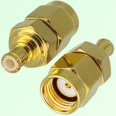 RF Adapter MCX Male Plug to RP SMA Male Plug