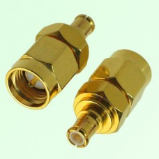 RF Adapter MCX Male Plug to SMA Male Plug
