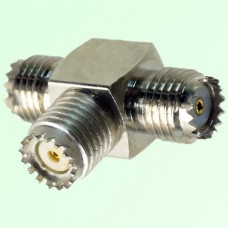 T Type Three Mini UHF Female Adapter Mini UHF to Mini UHF to Mini UHF