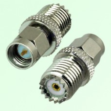 RF Adapter Mini UHF Female Jack to SMA Male Plug