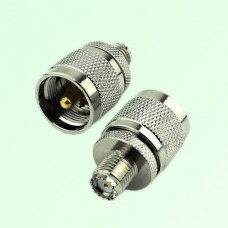 RF Adapter Mini UHF Female Jack to UHF PL259 Male Plug