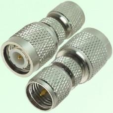 RF Adapter Mini UHF Male Plug to TNC Male Plug