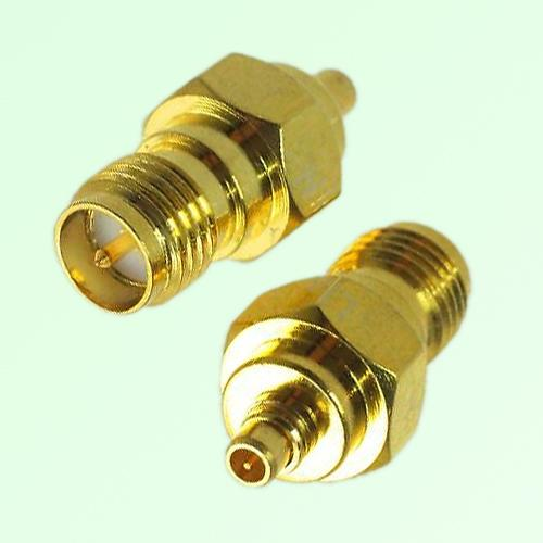 RF Adapter MMCX Male Plug to RP SMA Female Jack