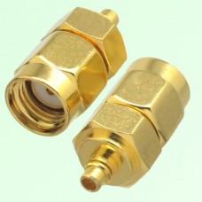 RF Adapter MMCX Male Plug to RP SMA Male Plug