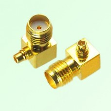 Right Angle MMCX Male Plug to SMA Female Jack Adapter