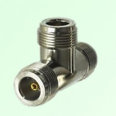 T Type Three N Female Jack Adapter N to N to N