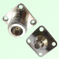 4 Hole Panel Mount N Female Jack to SMA Female Jack Adapter