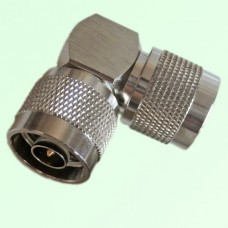 Right Angle N Male Plug to N Male Plug Adapter