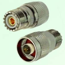 RF Adapter N Male Plug to UHF SO239 Female Jack