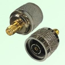 RF Adapter RP N Male Plug to RP SMA Female Jack