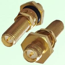 Long Bulkhead O-ring RP SMA Female Jack to RP SMA Female Jack Adapter