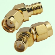 45 Degree 135 Degree RP SMA Female Jack to RP SMA Male Plug Adapter