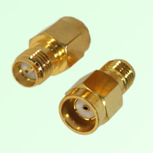 RF Adapter RP SMA Female Jack to RP SMA Male Quick Push-on