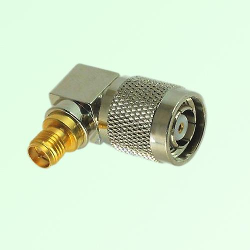Right Angle RP SMA Female Jack to RP TNC Male Plug Adapter