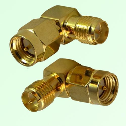 Right Angle RP SMA Female Jack to SMA Male Plug Adapter