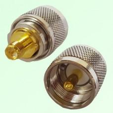 RF Adapter RP SMA Female Jack to UHF PL259 Male Plug
