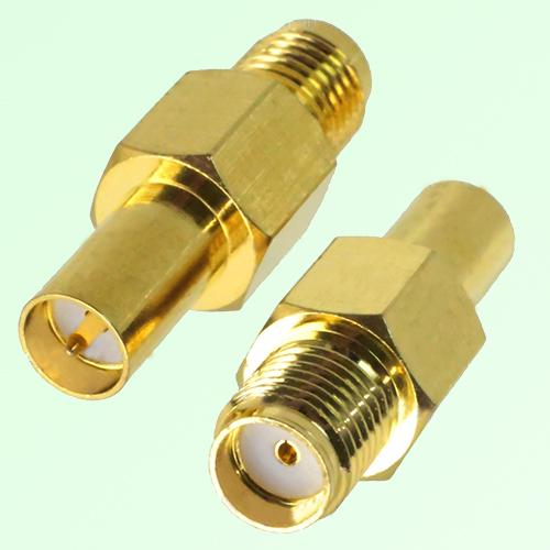RF Adapter RP SMA Female Quick Push-on to SMA Female Jack