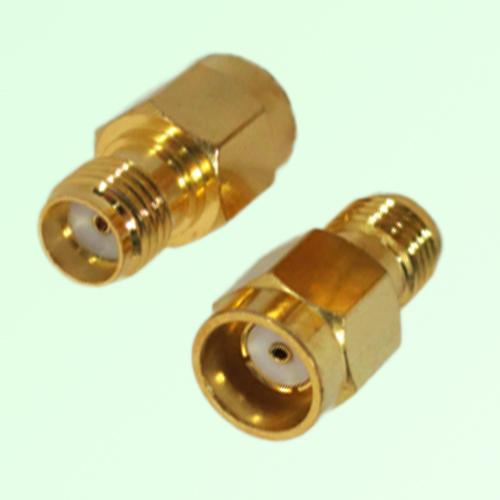 RF Adapter RP SMA Male Quick Push-on to SMA Female Jack