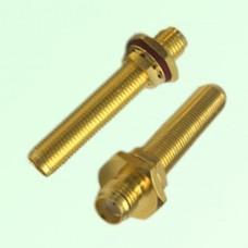 37.5mm Long Bulkhead O-ring SMA Female Jack to SMA Female Jack Adapter