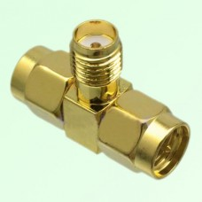 T Type SMA Female Jack to Two SMA Male Plug Adapter