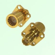 18G 4 Hole Panel Mount SMA Female to SMA Male Quick Push-on RF Adapter