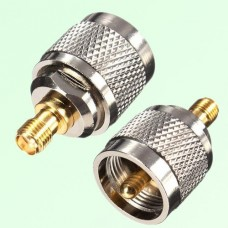 RF Adapter SMA Female Jack to UHF PL259 Male Plug