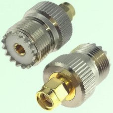 RF Adapter SMA Male Plug to UHF SO239 Female Jack