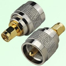 RF Adapter SMA Male Plug to UHF PL259 Male Plug