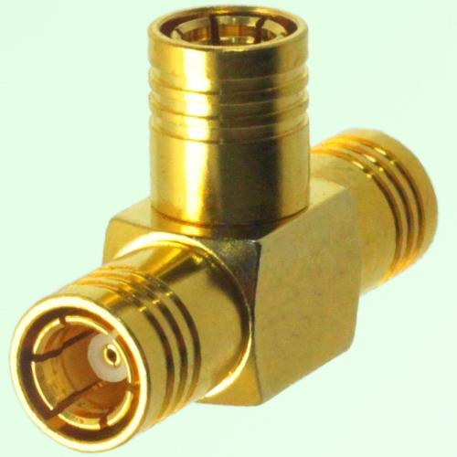 T Type Three SMB Female Jack Adapter SMB to SMB to SMB