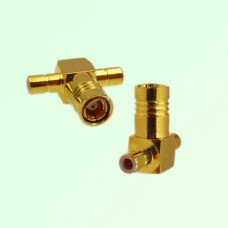 T Type SMB Female Jack to Two SMB Male Plug Adapter
