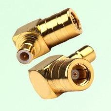Right Angle SMB Female Jack to SMB Male Plug Adapter