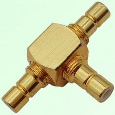 T Type Three SMB Male Plug Adapter SMB to SMB to SMB