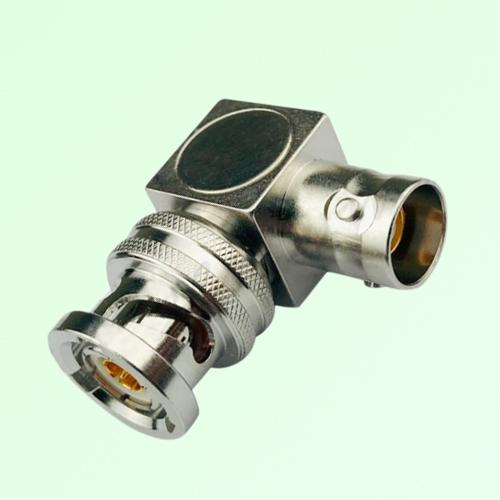 Right Angle TRB 3 Lugs Female Jack to TRB 3 Lugs Male Plug Adapter
