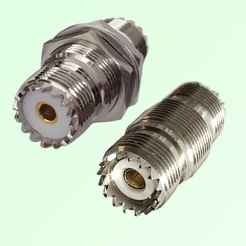 Bulkhead UHF SO239 Female Jack to UHF SO239 Female Jack Adapter