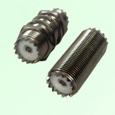 M16 Bulkhead UHF SO239 Female Jack to UHF SO239 Female Jack Adapter